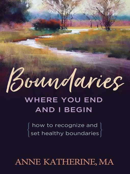 Boundaries Where You End and I Begin - eBook