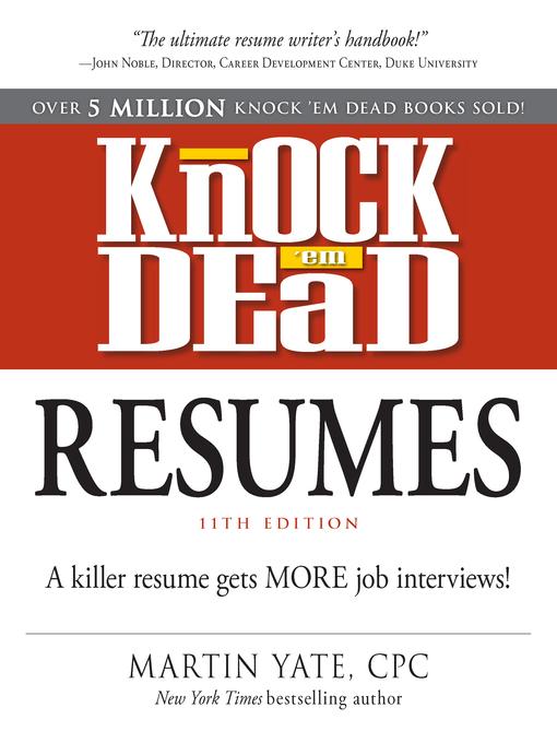 cover letter that knock em dead