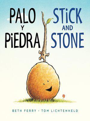 """Palo y Piedra / Stick and Stone bilingual"" (ebook) cover"